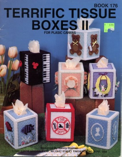 Terrific Tissue Boxes II Plastic Canvas Patterns Kappie Book 176