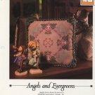 Vanessa Ann - Angels and Evergreens - Cross Stitch Pillow Chart