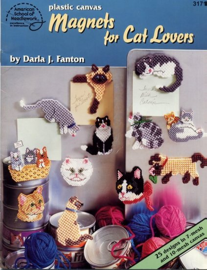 Plastic Canvas Magnets for Cat Lovers ASN 3171 -