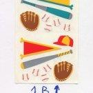 Mrs Grossmans Baseball Stickers #1B Green/Yellow