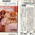 "Simplicity Crafts 7647 Bed Dolls Pattern - Body Approx 28"" Tall - Uncut"