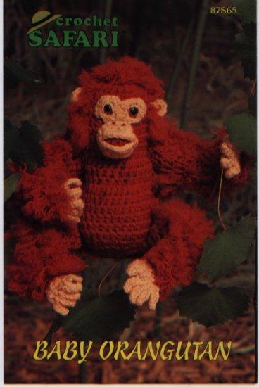 Annie's Attic Crochet Safari Baby Orangutan Pattern 87S65