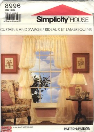 Simplicity House 8996 Curtains and Swags How to Directions