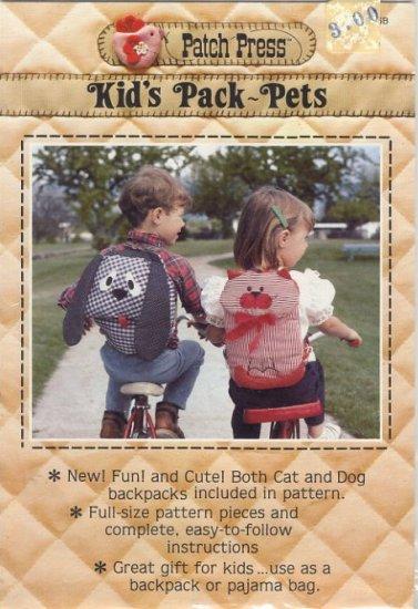Patch Press Kid's Pack-Pets Pattern No 335B