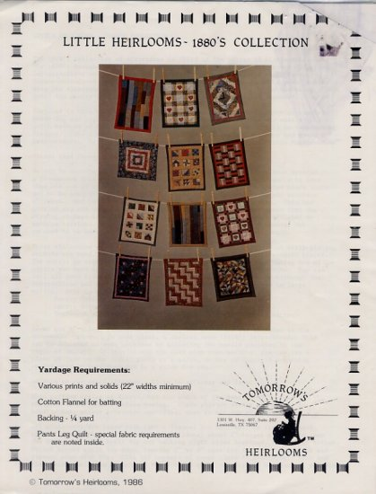 Little Heirlooms Miniature 1880's Collection Quilt Patterns