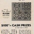Filet Table Runner Crochet Leaflet No. 271