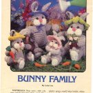 Bunny Family by Lois Lee Crochet Pattern 87C24 Annie's Attic
