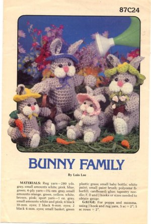 Bunny Family By Lois Lee Crochet Pattern 87c24 Annies Attic