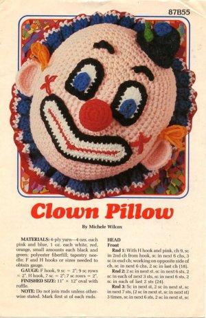Clown Pillow By Michele Wilcox Crochet Pattern 87b55 Annies Attic