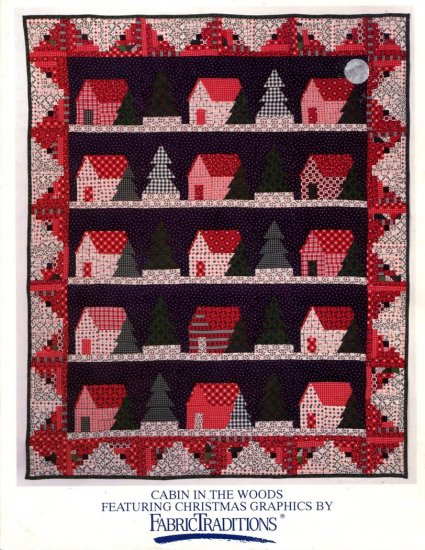 Cabin in the Woods Quilt Pattern by Jean Wells & Larry Thorn