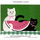 Country Cats Applique Pattern Only The Patchwork Pillow Inc