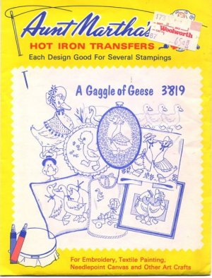 A Gaggle of Geese 3819 Aunt Martha's Hot Iron Transfers