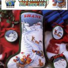 Sleddidng Old Town Hill - True Colors Cross Stitch Book BCL-10095