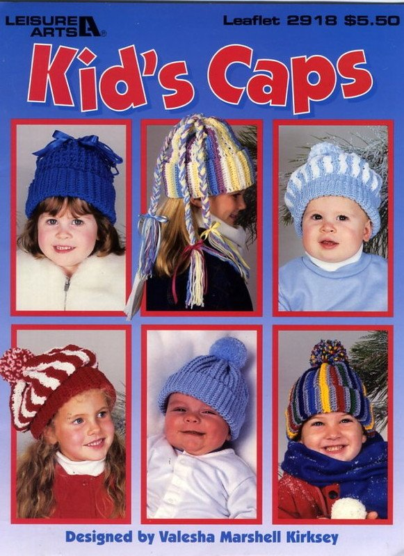 Kid's Caps to Crochet - Leisure Arts Leaflet 2918