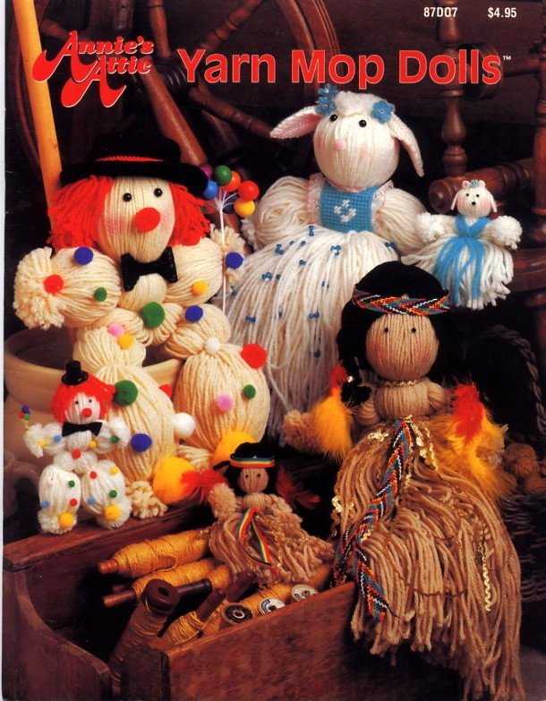 Yarn Mop Dolls - Annie's Attic Book 87D07