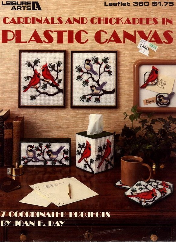 Cardinals and Chickadees in Plastic Canvas Leaflet 360 Leisure Arts