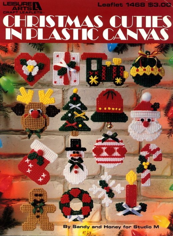Christmas Cuties In Plastic Canvas Leaflet 1468 Leisure Arts