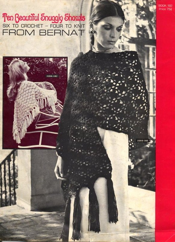 Ten Beautiful Snuggly Shawls - 6 to Crochet, 4 to Knit - Bernat Book 182