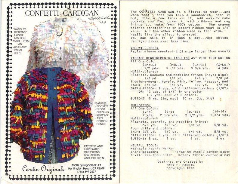 Confetti Cardigan Pattern - Cardin Originals