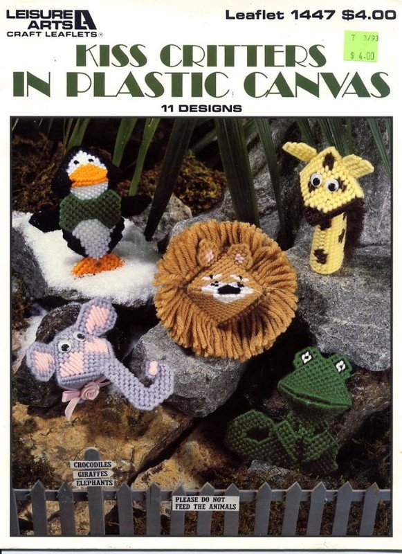 Kiss Critters in Plastic Canvas Leaflet 1447 Leisure Arts