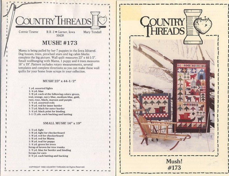 Mush! - Country Threads Quilt Pattern #173