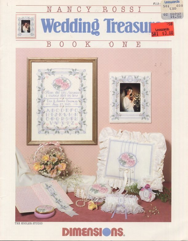 Nancy Rossi Wedding Treasures Book One - Dimensions Cross Stitch Book 113