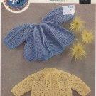 Peter Pan Crochet Matinee Coats - A Wendy Design P195
