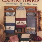Mimi's Country Towels - Leisure Arts Cross Stitch Leaflet 504