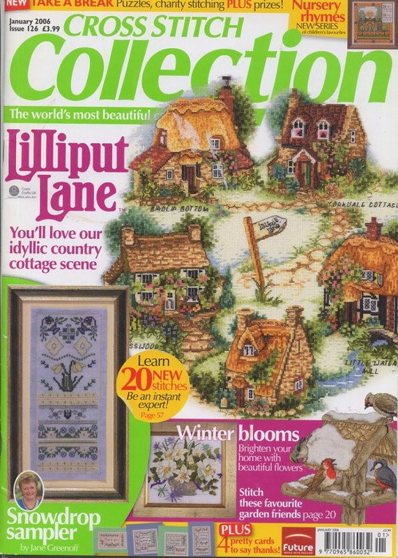 Cross Stitch Collection UK Magazine Issue 126 Jan 2006