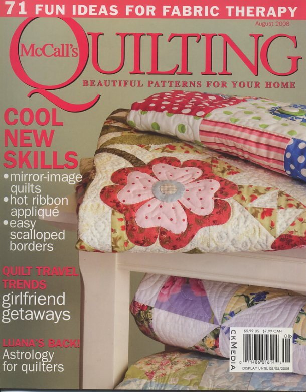 McCall's Quilting Magazine August 2008