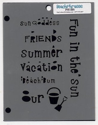The Crafters Workshop Beach Phrases Mini Template PH1BS
