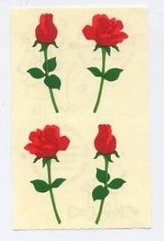 Mrs Grossman's Small Red Roses Sticker #8A