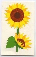 Mrs Grossman's Yellow Sunflower Sticker #8N