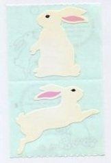 Mrs Grossman's White Bunny Stickers #4C