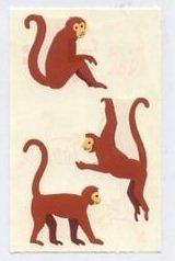 Mrs Grossman's Brown Monkey Stickers #4D