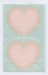 Mrs Grossman's Pink Lace Heart Sticker 6C
