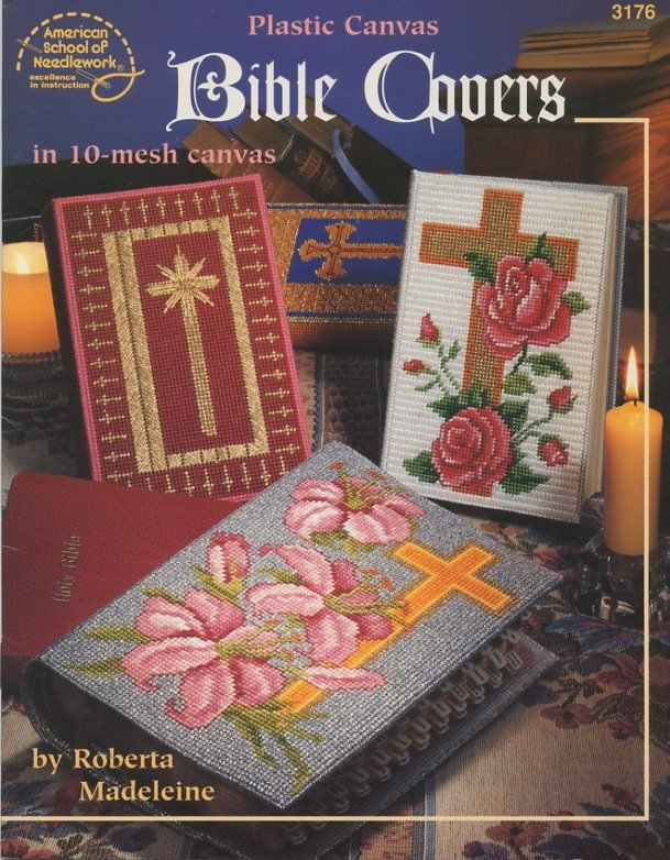 Adjustable Book Cover Pattern : Plastic canvas bible covers in mesh patterns