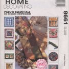 McCall's Home Decorating 8661 Pillow Essentials Pattern - uncut