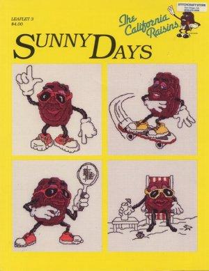 The California Raisins Sunny Days Cross Stitch Pattern Leaflet 3