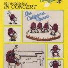The California Raisins Mini-Raisins In Concert Cross Stitch Pattern Leaflet 4