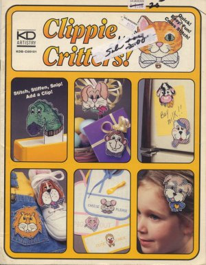 Clippie Critters! Cross Stitch Pattrns KD Artistry KDB-C00101