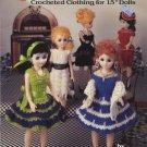"Saturday Nite Dolls Crocheted Clothing for 15"" Dolls - ASN Crochet Book 1127"