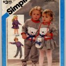 Simplicity 6562 Toddlers'  Pull-On Pants, Skirt, Pullover Top and Bag Size K (1&2&3) - uncut