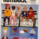 Butterick 6972 Children's T-Shirt, Shorts, Pants & Transfer size 2-3-4 - Uncut