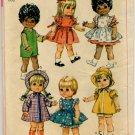 "Simplicity 7971 Toddler Dolls Wardrobe For 15"" Dolls Pattern - uncut"