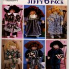 "Simplicity 7650 Abbies's Jiffy 6 Pack - 22"" Stuffed Doll and Clothes Pattern - uncut"
