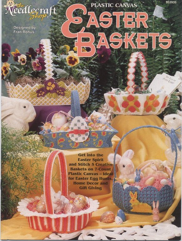 Plastic Canvas Easter Baskets Patterns - The Needlecraft Shop 953935