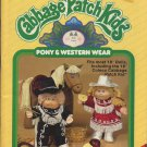 Xavier Roberts Presents Cabbage Patch Kids Pony & Western Wear Plaid Book 7810