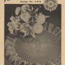 Pineapple Pirouette Crochet Leaflet Design No. S-973 Coats & Clark's