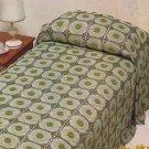 Crochet Motif Bedspread - Coats Mercer - Crochet Design Leaflet 1078